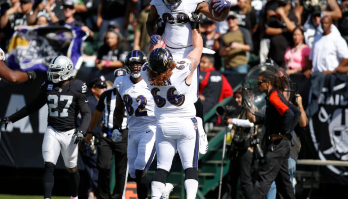 Raiders versus Ravens